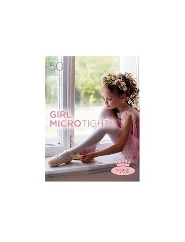 Dívčí punčochové kalhoty GIRL MICROtights 50DEN, bianco