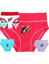 Dívčí kalhotky Boma KR 006 - balení 3 ks v barevném mixu